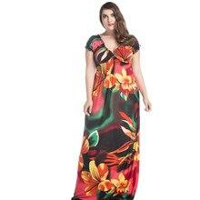 Delle Donne del partito ucraina Primavera Abbigliamento Elegante Della  Boemia Con Scollo A V Flower Stampa hippie 72724ff56c5
