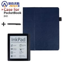 Folio Stand Искусственная кожа чехол Высокое качество защитный чехол для PocketBook 840 подушечка PocketBook 840 2nd подушечка читалка