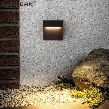 Nordic Outdoor LED Wall Light Lamps Waterproof IP65 Modern Wall Sconce Lights Garden Stepping Stairs Decor Aluminium Lighting