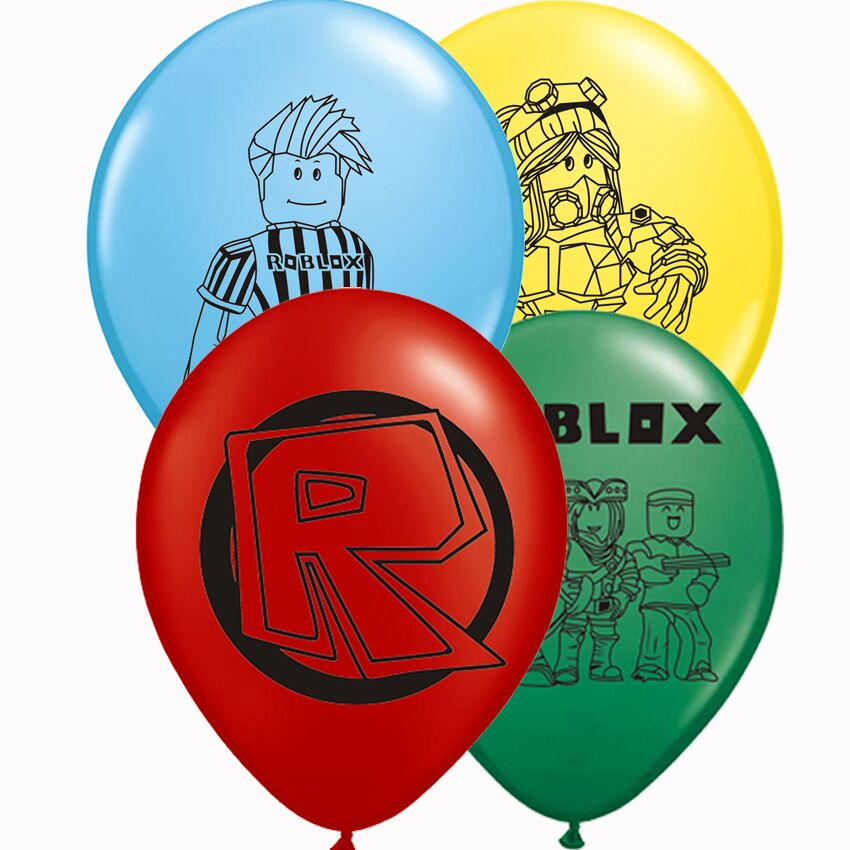 10pcs Roblox Latex Balloons 12inch Cartoon Game Model Toy Balloon Birthday Party Favor Decorations Kids Xmas