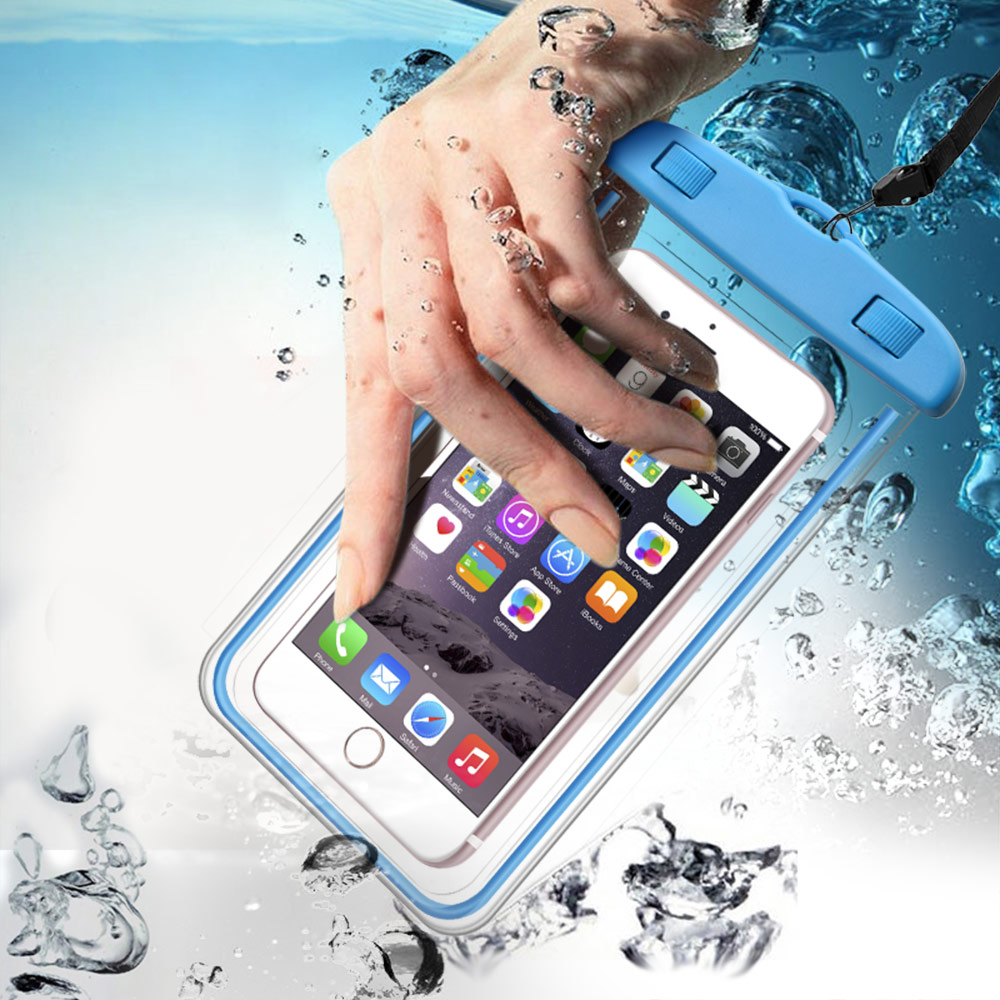 Universal Cover Swim Luminous Waterproof Phone Case For iPhone X 8 7 6S Coque Pouch Waterproof Bag Case For Samsung S9 S8 Plus