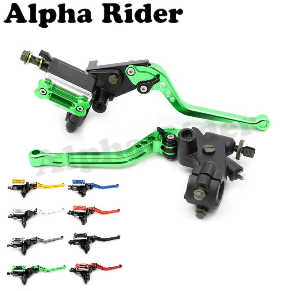 CNC 7/8 22MM Motorbike Adjustable Brake Master Cylinder Clutch Levers for Kawasaki Ninja 250R 300R ZX6R ZX9R ER6N ER6F Z800 free shipping motorcycle 7 8 22mm clutch lever brake hydraulic master cylinder levers for kawasaki ninja zx 6r 636 zx 10r