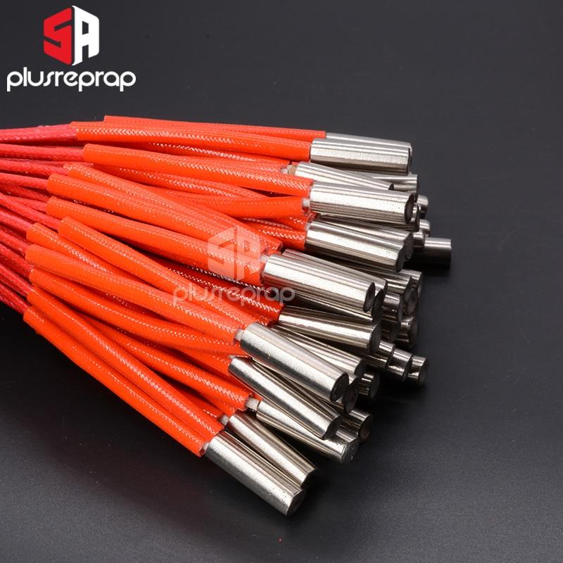 1PC 6x15 6x16 6x20 6x30mm Ceramic Cartridge Heater 12V / 24V 30W 40W 50W For CNC 3D Printer Print Head HotEnd J-Head