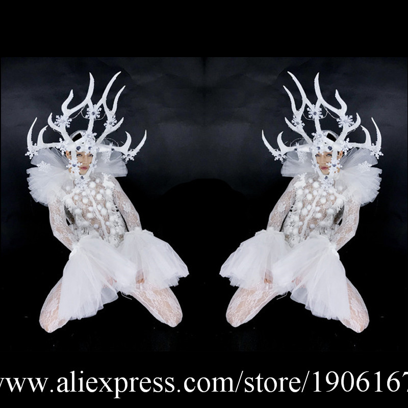Led Antlers Stage Ballroom Costume Led Light Up Antlers Head font b Clothing b font Party