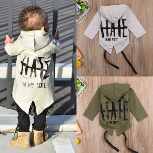 Newborn Baby Boys Clothes Long Sleeve Hooded Coat 100% Cotton Outerwear Jacket