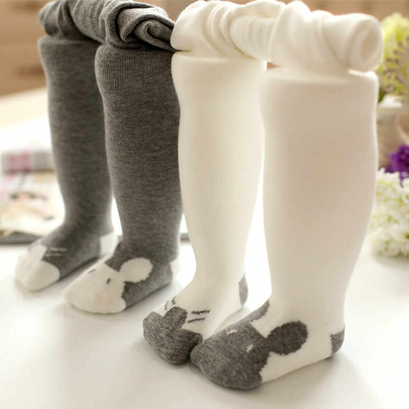 Newborn Baby Tights Boys Girls Pantyhose 0-36 Months Warm Soft Cotton Mouse Pattern Print Leg Warmers Baby Kids Stockings Infant