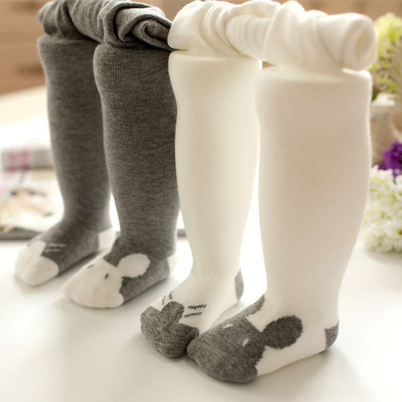 0-3Y Cotton Pantyhose For Girls Kids Newborn Baby Soft Warm Tights Stockings