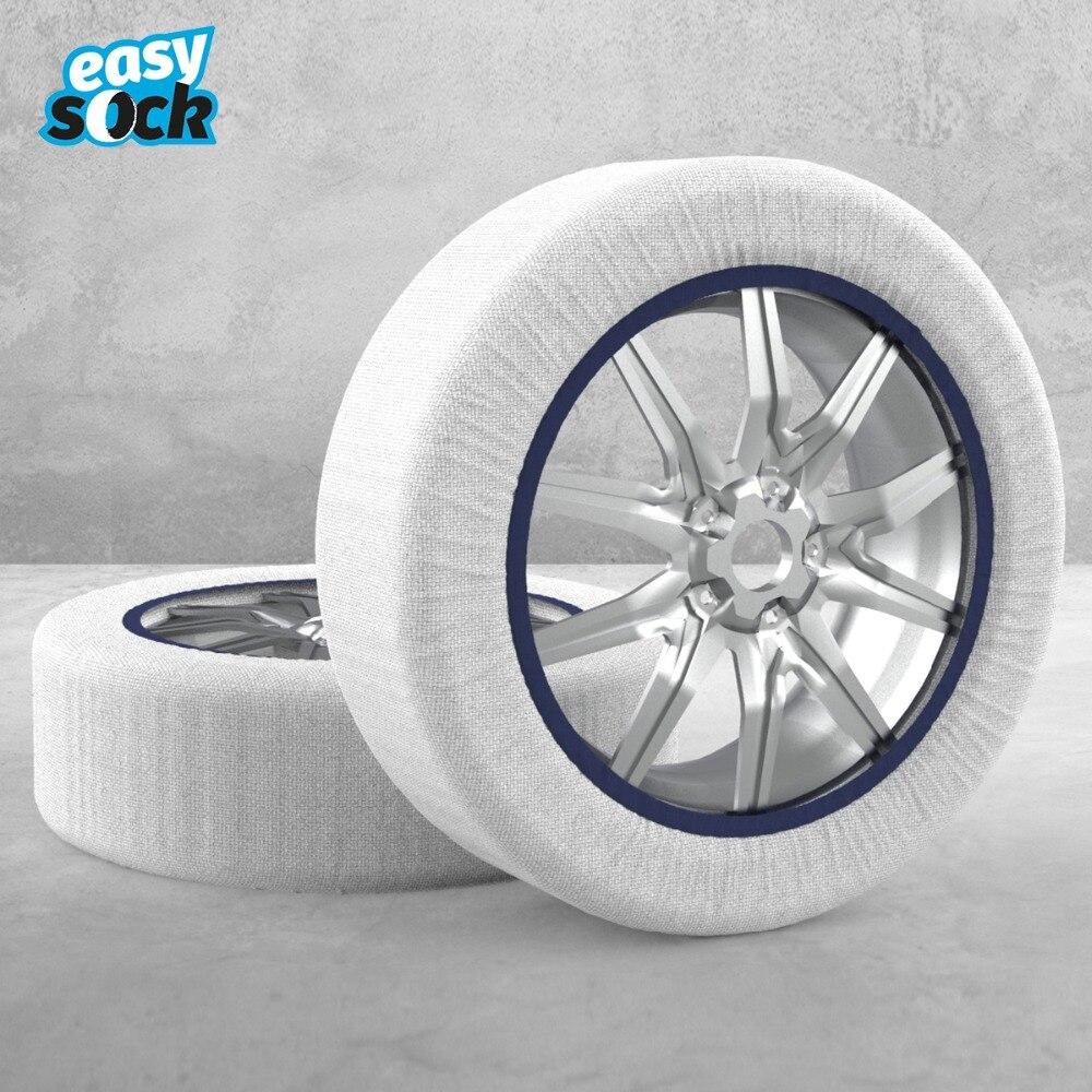 Chaussette facile Textile chaînes à neige pour voitures Automobiles tissu antidérapant chaîne de pneu chaussettes Traction pour neige glace blanc pneus universels