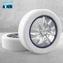 Easy Sock Textile Snow Chains for Cars Automobiles Anti Slip Fabric Tire Chain Socks Traction for Snow Ice White Universal Tyres