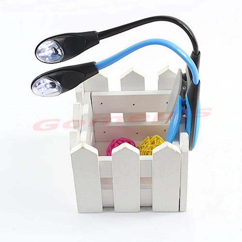 Mini Flexible Light Clip-on Bright Booklight LED Travel Book Reading Lamp White Light