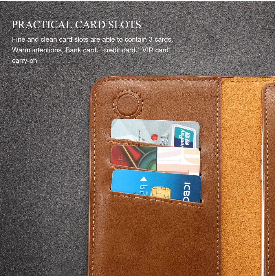 FLOVEME Genuine Leather Wallet Case For iPhone 6 6S 7 Plus Cover Multi-function Vintage Luxury Phone Pouch For Samsung S6 S7 (11)