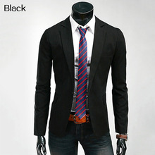 Men Fashion Autumn Blazer Formal Slim Fit Suit Coat Business Casual Outwear All-match Male Suit One Button Lapel Casual Long Sle