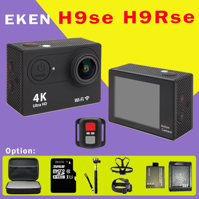 2016 New Original EKEN H9 SE /  H9R SE Ultra HD 4K Sports Action Camera Video Wide Angle 2.0 wifi go underwater pro camera 2017 original eken h9r sports action camera 4k ultra hd 2 4g remote wifi 170 degree wide angle