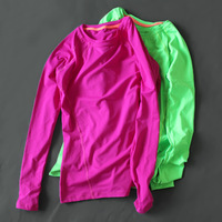 2017 Hot Women Tees T Shirt Long Sleeves Quick Dry Slim High Stretch Training Fitness T