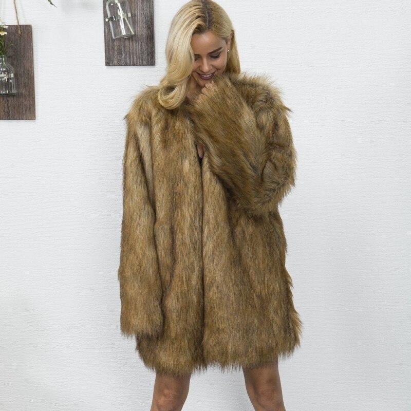 En Col Élégant V The Hiver S Fit Manteau Mode De La Nouvelle Femme 3xl Partie Slim Picture 2018 Plus Taille Fourrure Veste Fausse Long Arrivée As vqAFwz