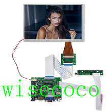 LCD 800*480 TTL LVDS Controller Board  VGA 2AV 60 PIN for 7 inch A070VW04 Support Automatically Raspberry Pi Driver Board