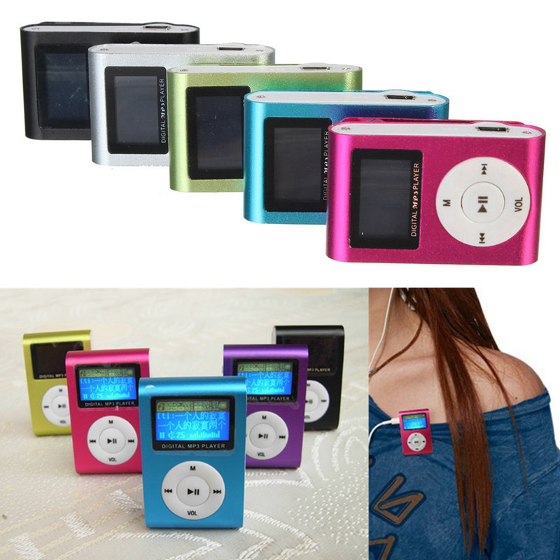 LCD Screen Support 32GBb Mini Clip MP3 Player Micro SD TF Card Radio Reader Colors USB Music Media Pocket-Sports Flash Drive