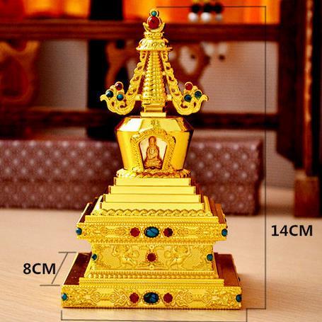 Copper alloy, stupa, Buddha eight, temple, Buddhist supplies, pagodas, the Bodhi tower, dagoba, 3 colors optional~