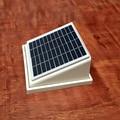 ABS пластик Солнечный настенный вентилятор экстрактор 68CFM бесщеточный двигатель постоянного тока для сарая