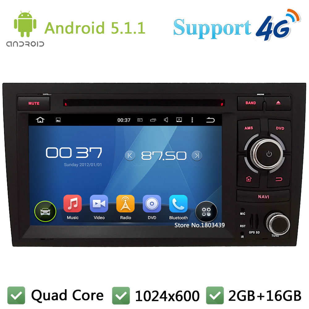 Quad Core 7 HD 1024 600 Android 5 1 1 Car DVD Player Radio Stereo With
