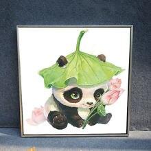 Мультфильм панда цветок diy 5d полный Алмаз Живопись Мозаика