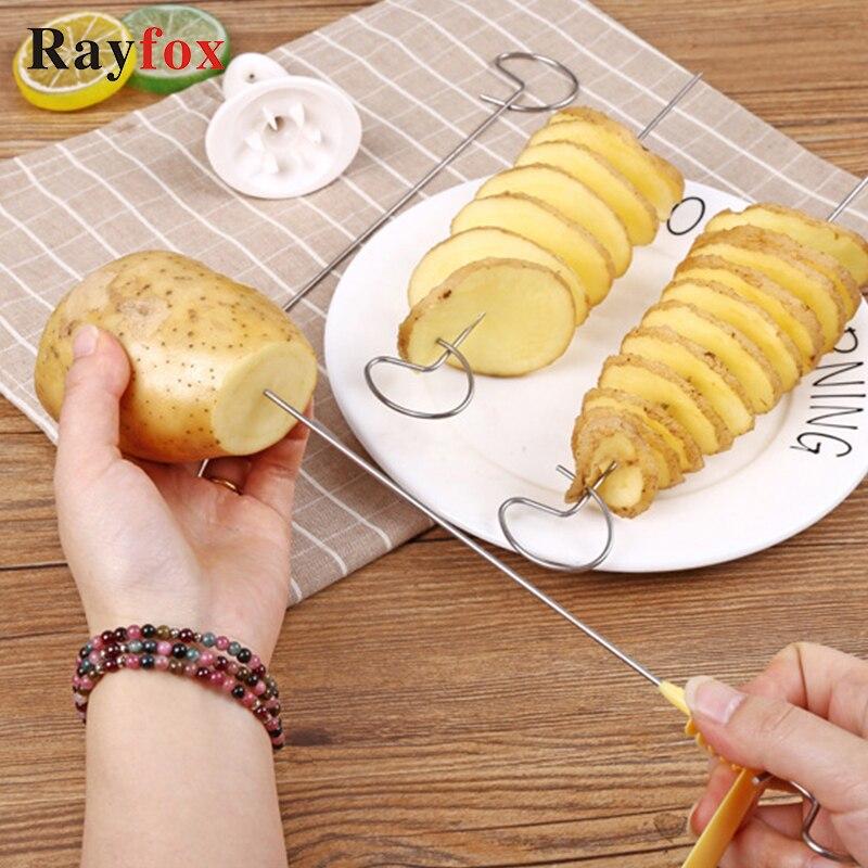 Potato Spiral Cutter Cucumber Slicer Kitchen Accessories Vegetable Spiralizer Spiral Potato Cutter Slicer Kitchen Gadgets Tools
