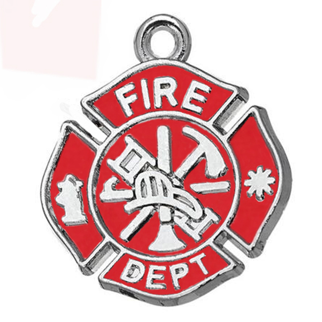 100pcs a lot antique silver plated zinc with red enamel 100pcs a lot antique silver plated zinc with red enamel firefighter maltese cross pendant aloadofball Choice Image