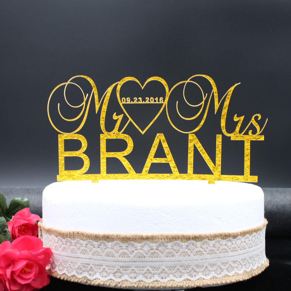 Medium Crop Of Custom Wedding Cake Toppers