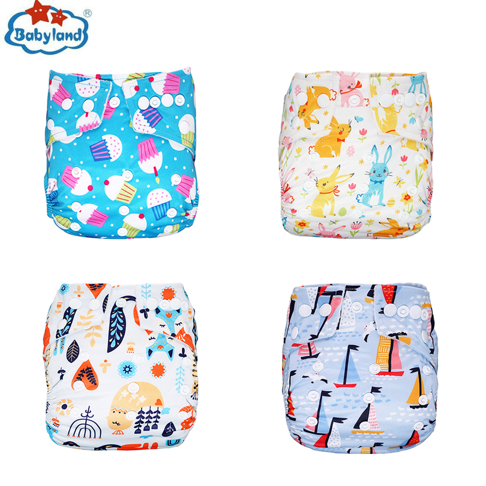 Babyland 2019 Newest Prints 1PC Washable Diapers Baby Cloth Nappy Newborn Waterproof Diaper Covers Kids Diaper Pants Child Nappy