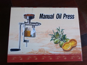 Image 5 - Handmatige Olie persmachine olieverdrijver Rvs 304 food grade