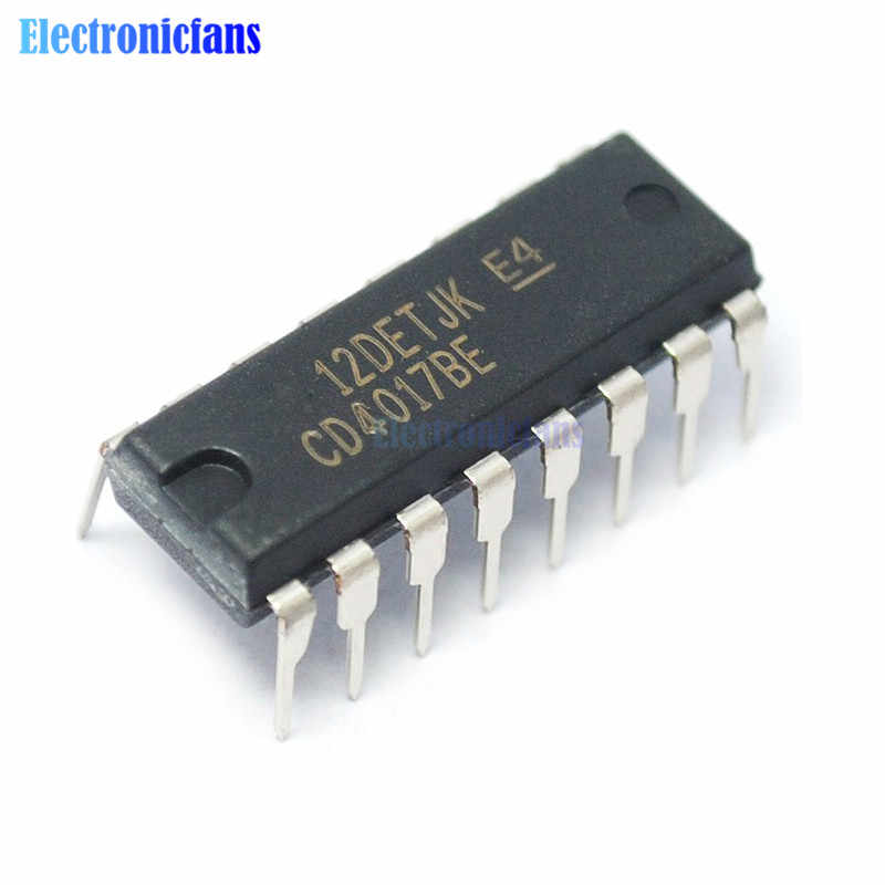 20Pcs CD4017 CD4017BE 4017 DIP-16 DECADE COUNTER DIVIDER IC