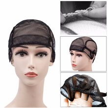 2019 New Hair Company Human Hair Wigs Stretch Lace Wig Caps Making Weaving Cap Adjustable Straps Black 1pc sale(China)