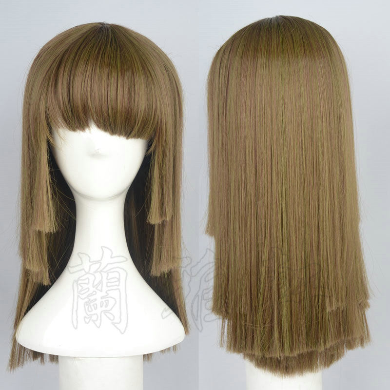 100% Quality Sengoku Nadeko 50cm Green Mix Half Long Synthetic Hair Cosplay Costume Wigs Heat Resistance Fiber +free Wig Cap To Make One Feel At Ease And Energetic