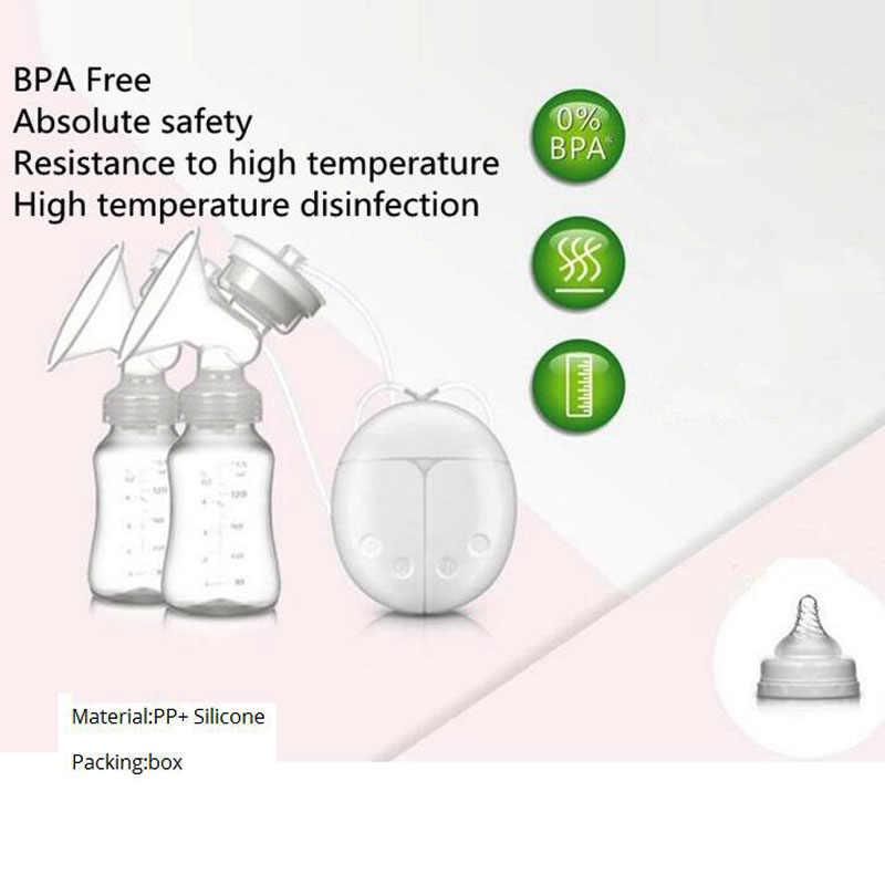 ZIMEITU Dupla Elétrica de mama bombas Poderosa Sucção Do Mamilo USB Elétrica Bomba de Mama com garrafa de leite do bebê Almofada de Calor Frio Nippl