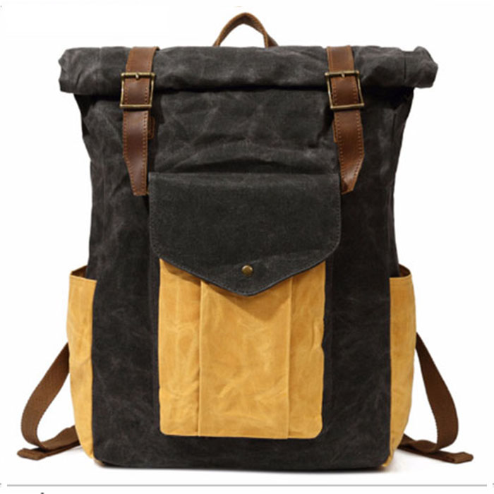 все цены на hot sale good quality men canvas backpack male fashion travel bag man casual travel backpacks student school bags brown/grey
