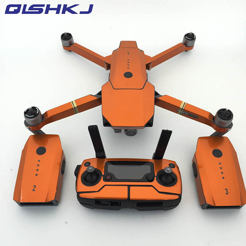 1set Fluorescence Remote Control Body Arm Full Set Sticker Waterproof Cool Sticker For DJI Mavic Pro/platinum Drone Accessories