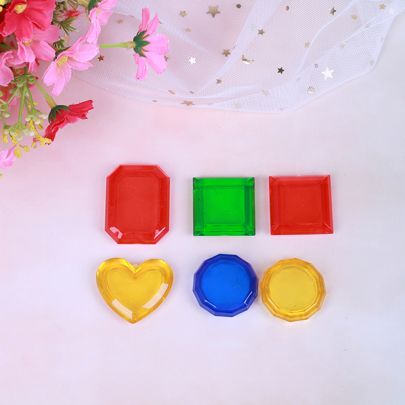 6pcs Gem Set Throwing Toy Swimming Pool Dive Sticks Toy Jewelry Game Children Findings & Components