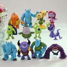 12 pçs/lote Populares 4-6.5 cm Monstros Empresa. monstros sa monstros University Mike Sully PVC Mini Action Figure Brinquedos Bonecas Presentes