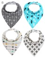 baby bibs infant Bandana Drool Bibs, baby Boys baby girl 4 Pack, Soft Cotton w/ Snaps, Cute Baby Gift