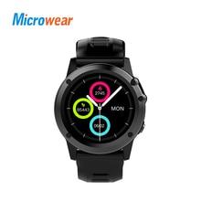 Лучшие Microwear H1 Смарт-часы Android 4,4 IP68 Водонепроницаемый gps Wi-Fi 3g MTK6576 4 ГБ 512 МБ спортивные Smartwatch Heartrate Bluetooth 4,0
