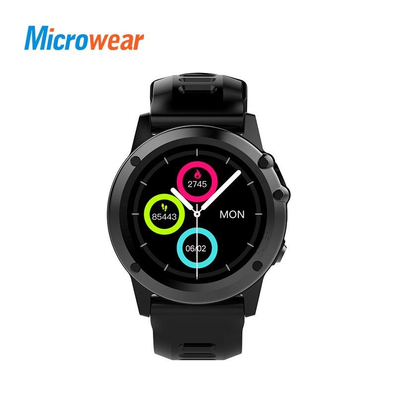 Microwear H1 Astuto Della Vigilanza del Android 4.4 IP68 Impermeabile GPS WiFi 3g MTK6576 4 gb 512 mb Sport Heartrate Smartwatch bluetooth 4.0