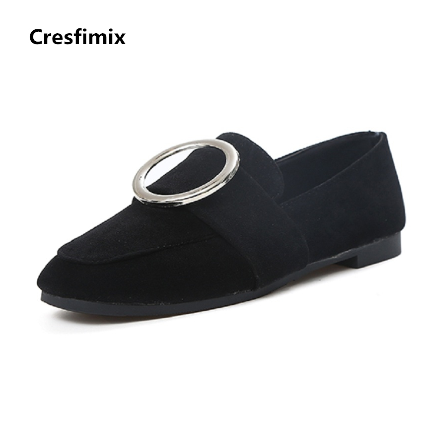 Cresfimix zapatos de mujer women casual spring & summer slip on flat shoes lady cute flock soft comfy shoes female cool shoes cresfimix sapatos femininos women casual soft pu leather pointed toe flat shoes lady cute summer slip on flats soft cool shoes
