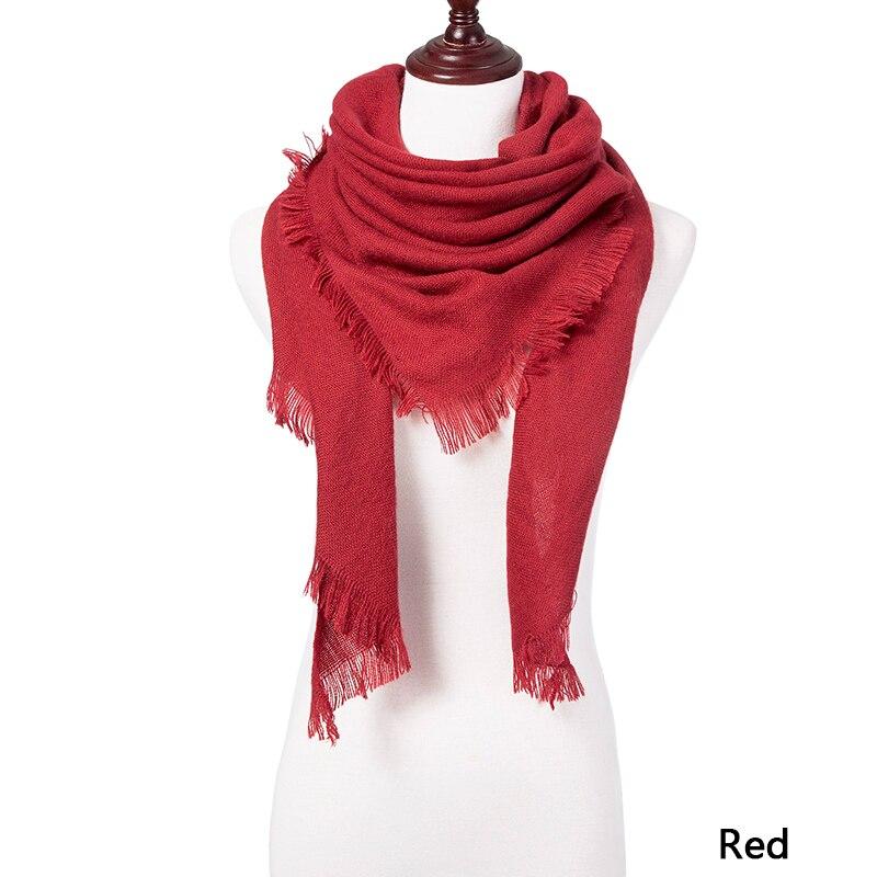 Горячая Распродажа, Модный зимний шарф, Женские повседневные шарфы, Дамское Клетчатое одеяло, кашемировый треугольный шарф,, Прямая поставка - Цвет: C4