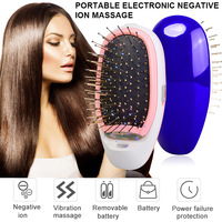 Portable Electric Ionic Hair Brush Effective Head Massage Comb Negative Ions Scalp Massage Care Comb Modeling Styling Hairbrush