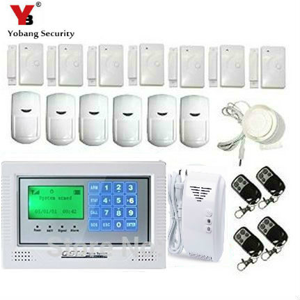 YobangSecurity Russian Spanish French Italian Czech Portuguese Touch Keypad GSM Wire Home Burglar Security font b