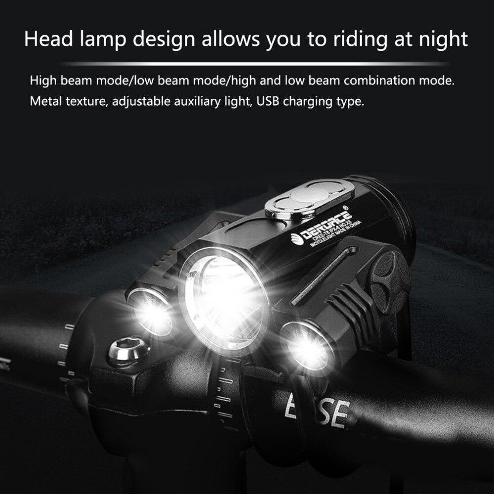 Ajustable de alta luz de la linterna de la bicicleta USB Lámpara de carga 3 modo X3 T6 bicicleta LED la luz de la lámpara frontal nuevo estilo