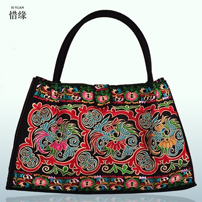 Pure Handmade Hard Case embroidery ethnic handbags women handbag flower shoulder bag Lady shopping bags embroidered colorful bag ethnic embroidered black cami dress for women