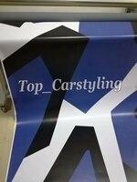 Pixel white blue black Camo Vinyl Car Wrap Camouflage Film Vehicle covering With Air Bubble Free WRAPSKIN sign 1.52x10m/20m/30m