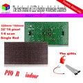 Semi ao ar livre módulo led vermelho 320 mm * 160 mm P10 DIP único vermelho para negócio interior screen display