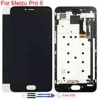 Original AMOLED LCD For 5.2 Meizu Pro 6 Display Frame Touch Screen Assembly Replacement Screen For Meizu Pro 6 M570M M570H LCD